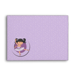 Cute Lilac Ballerina 1 Envelopes