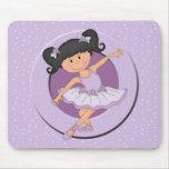 Cute lilac Ballerina 2 Ballet Star Mousepad