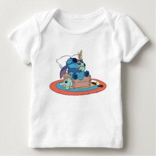 Cute Lilo & Stitch Stitch Sleeping Baby T-Shirt