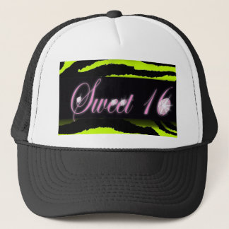 cute Lime Green Cupcake Sweet 16 Trucker Hat