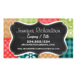 Cute Lime Green, Turquoise, and Scarlet Red Business Card Template
