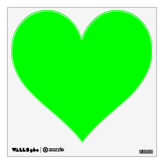 Cute Lime Heart Wall Decals