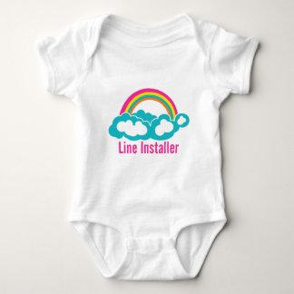 Cute Line Installer Baby Bodysuit