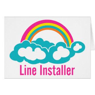 Cute Line Installer Card