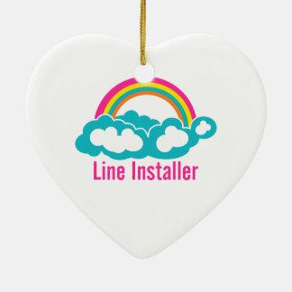 Cute Line Installer Ornament