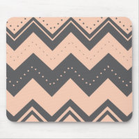 Cute Lined Pattern and Chevron Design Mouse Pad (<em>$12.25</em>)