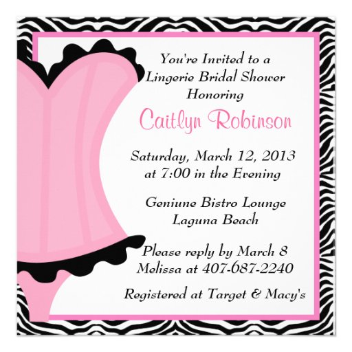 Lingerie Bridal Shower Invitations can inspire you to create best invitation template