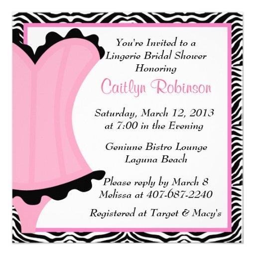 Cute Lingerie Bridal Shower Invitation 5 25 Quot Square Invitation Card Zazzle