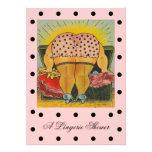 Cute Lingerie Bridal Shower Polka Dot Invitations
