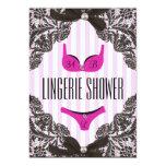 "Cute Lingerie Shower Invitation 5"" X 7"" Invitation Card"