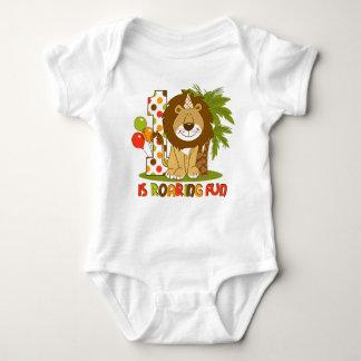 Cute Lion 1st Birthday Baby Bodysuit