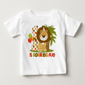 Cute Lion 1st Birthday Baby T-Shirt