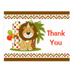 Cute Lion 1st Birthday Postcards