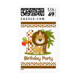 Cute Lion 1st Birthday Stamps