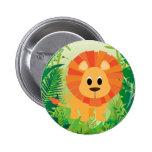 Cute Lion 2 Inch Round Button