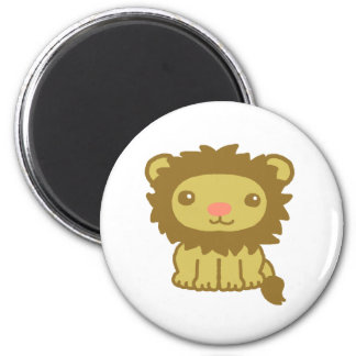 Cute lion 2 inch round magnet