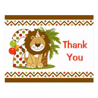 Cute Lion 2nd Birthday Post Card