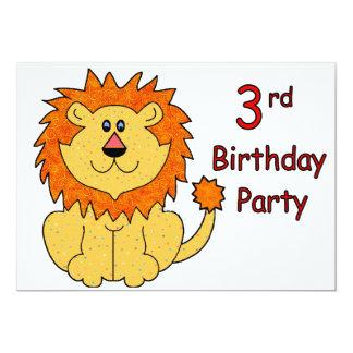 Cute Lion 3rd Birthday Card