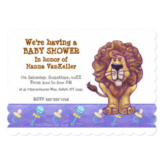 Cute Lion Baby Shower Card