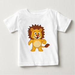 Baby Fine Jersey T-Shirt with Cute Lion design