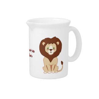 Cute Lion Beverage Pitcher