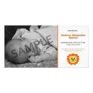 Cute Lion Birth Announcement Photo Card