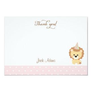 Cute Lion Birthday Thank You Card