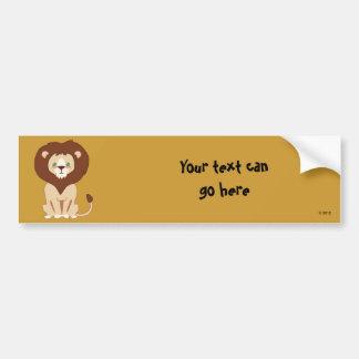 Cute Lion Car Bumper Sticker