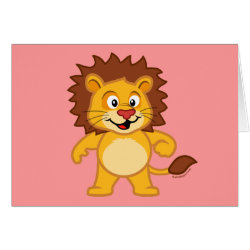 Greeting Card with Cute Lion design