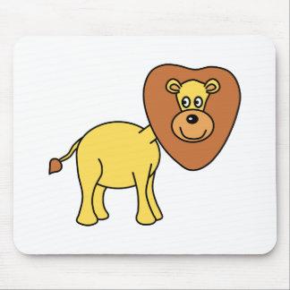Cute Lion Cartoon Mouse Pad