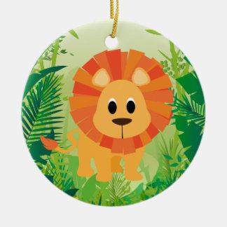 Cute Lion Ceramic Ornament