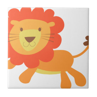 cute lion ceramic tile