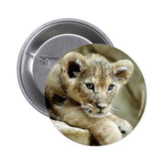 Cute Lion Cub 2 Inch Round Button