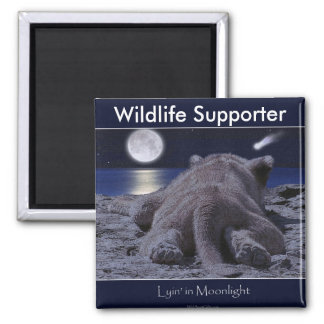 CUTE LION CUB Collection 2 Inch Square Magnet