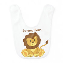 Cute Lion Custom Personalized Baby Bib