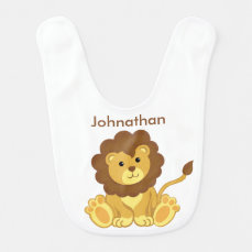 Cute Lion Custom Personalized Baby Bib