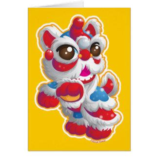 Cute Lion Dancer Card