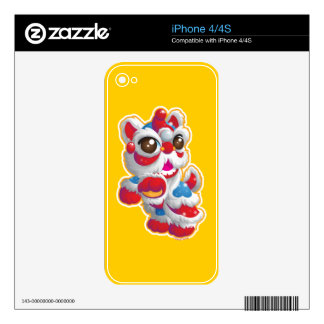 Cute Lion Dancer Decals For The iPhone 4S