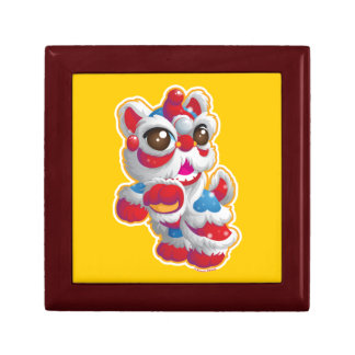 Cute Lion Dancer Jewelry Box