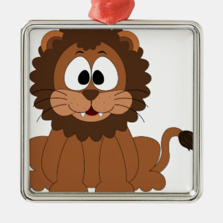 Cute Lion Design Metal Ornament