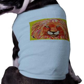 Cute Lion Design on Doggie Ribbed Tank Top
