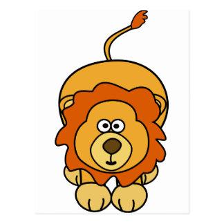 Cute Lion Design Postcard
