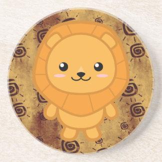Cute Lion Drink Coaster