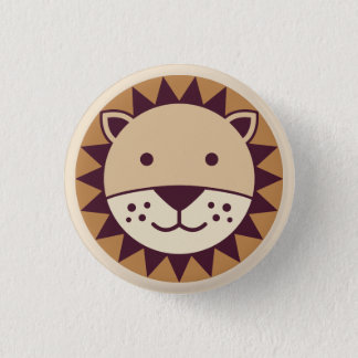 Cute Lion Face Pinback Button