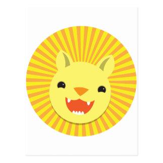 cute lion face postcards
