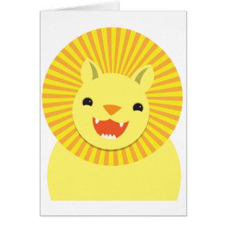 cute lion face smiling wonderful! card