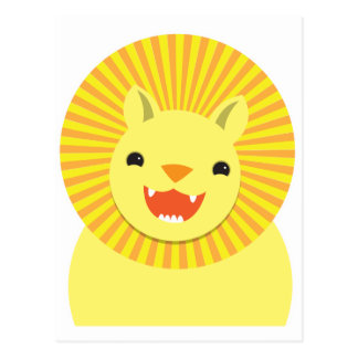 cute lion face smiling wonderful! post card