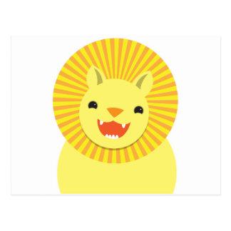 cute lion face smiling wonderful! postcard