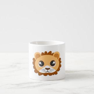 Cute Lion Head Cartoon Espresso Cup