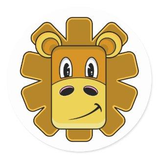 Cute Lion Head Sticker Sheet sticker
